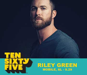 Ten Sixty Five 1065 Mobile Alababama Artist Riley Green
