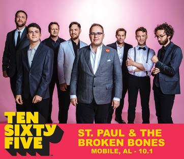 Ten Sixty Five 1065 Mobile Alababama Artist St. Paul & The Broken Bones