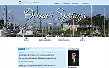 City of Ocean Springs template