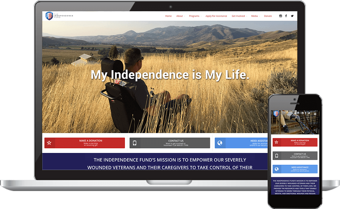 Mockup in Responsive The Independence Fund