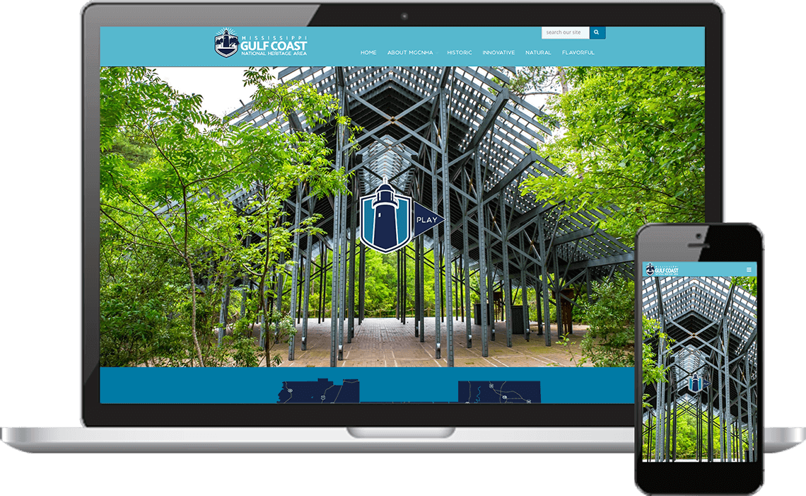 Mockup in Responsive Mississippi Gulf Coast <br>National Heritage Area