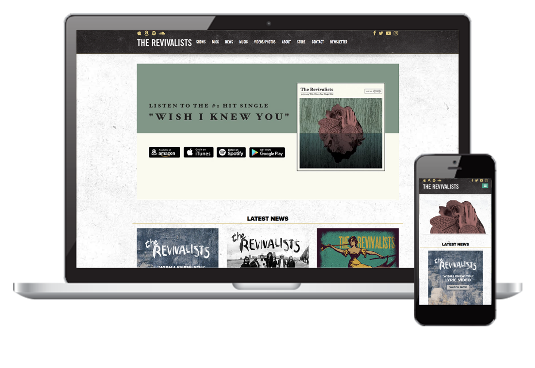 Mockup in Responsive mob The Revivalists