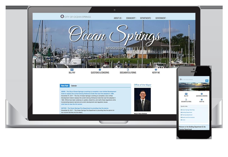 Mockup in Responsive City of Ocean Springs