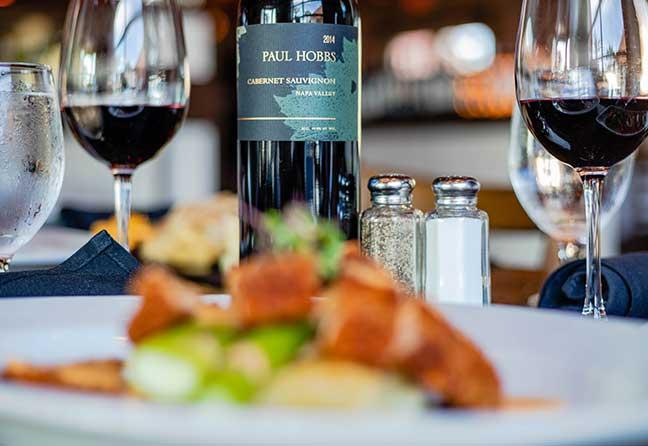 Wine bottle and dinner