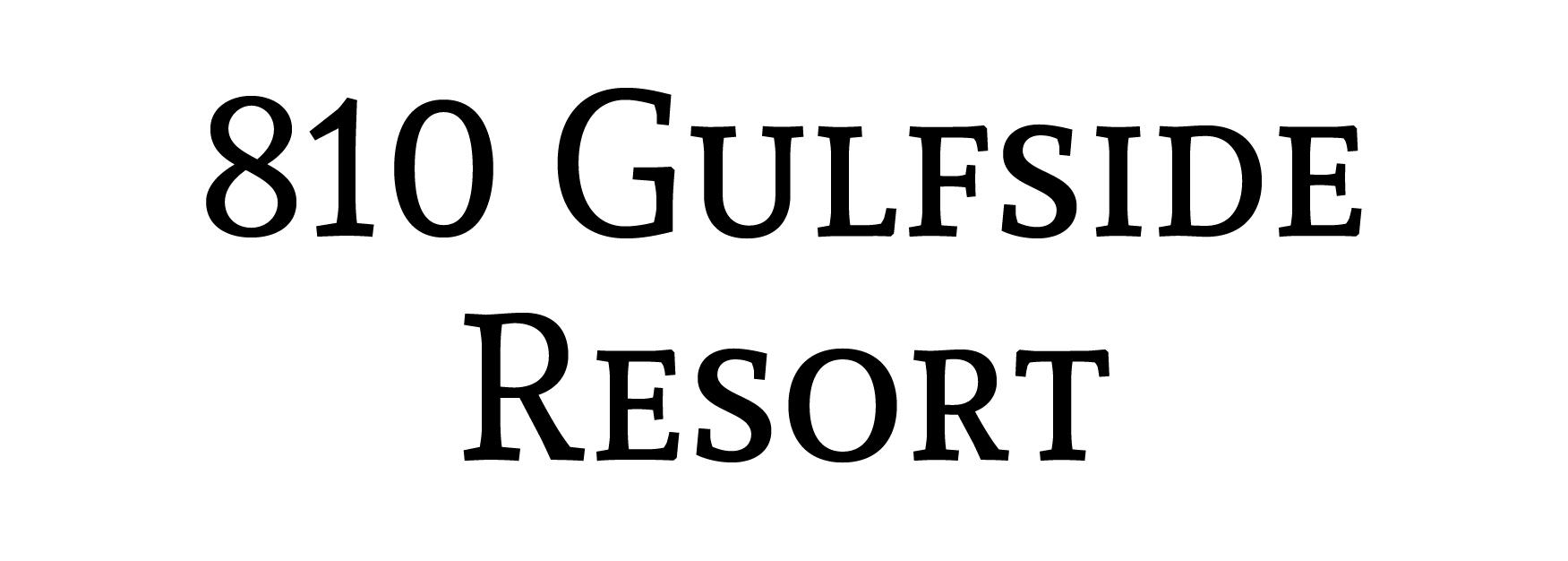 810 Gulfside Resort