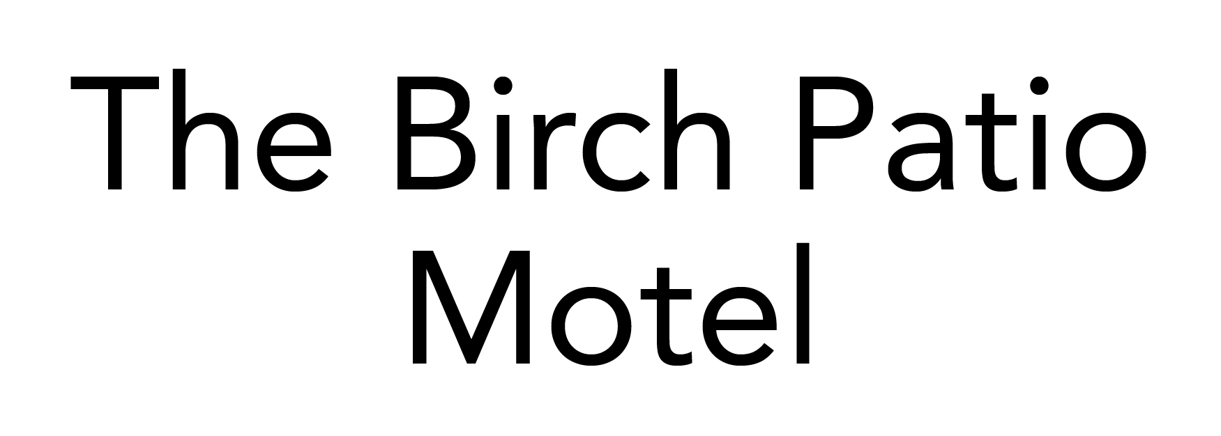 Birch Patio Motel