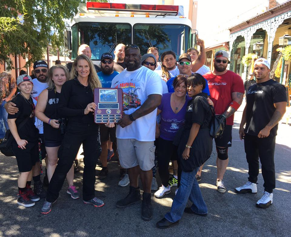 Trauma Intervention Program TIP/Complete DKI Fire Truck Pull at Seville Quarter