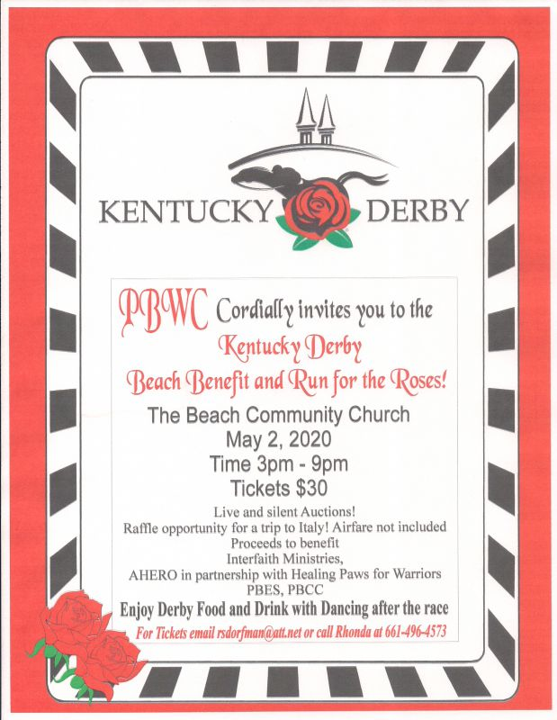 Kentucky Derby Beach Benefit and Run for the Roses
