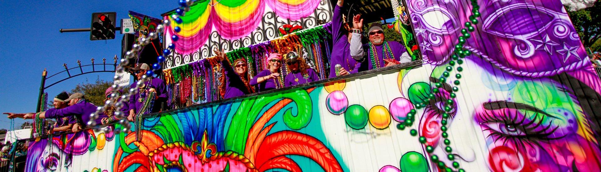 Annual Gulf Coast Carnival Association Mardi Gras Parade