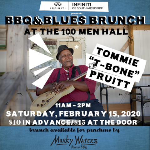 Blues & BBQ Brunch at the 100 Men Hall with T-Bone