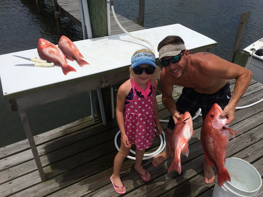 Summer is here, the kids are out of school and the fishing is in full swing. The bite has been excellent so far this year.  When the weather is calm we have been going after Red Snapper out in the gulf.  It normally doesn't take long to get a limit of Red Snapper.