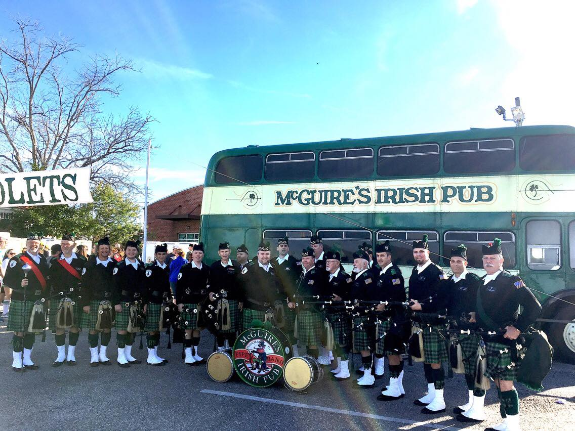 McGuire's Irish Pipe Band snapped together