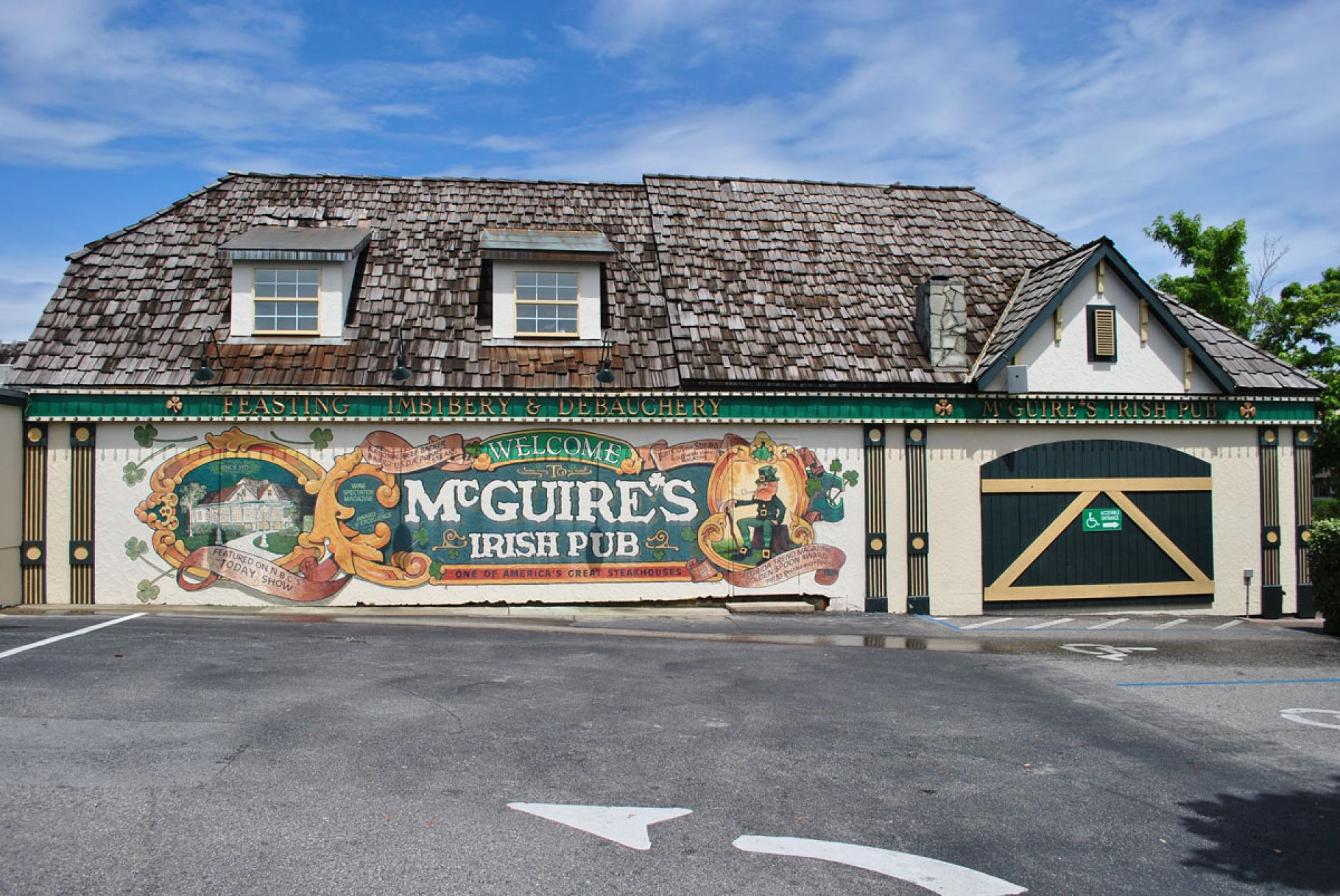 View of McGuires Outdoor Mural