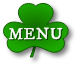 Menu written on a Shamrock. This will open the mobile navigation.