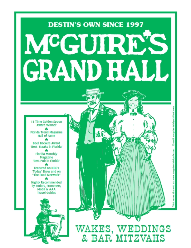 Destin Grand Hall Menu