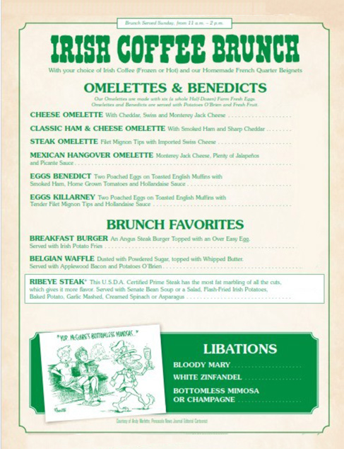Brunch Menu cover