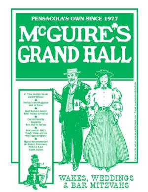 Pensacola Grand Hall Menu