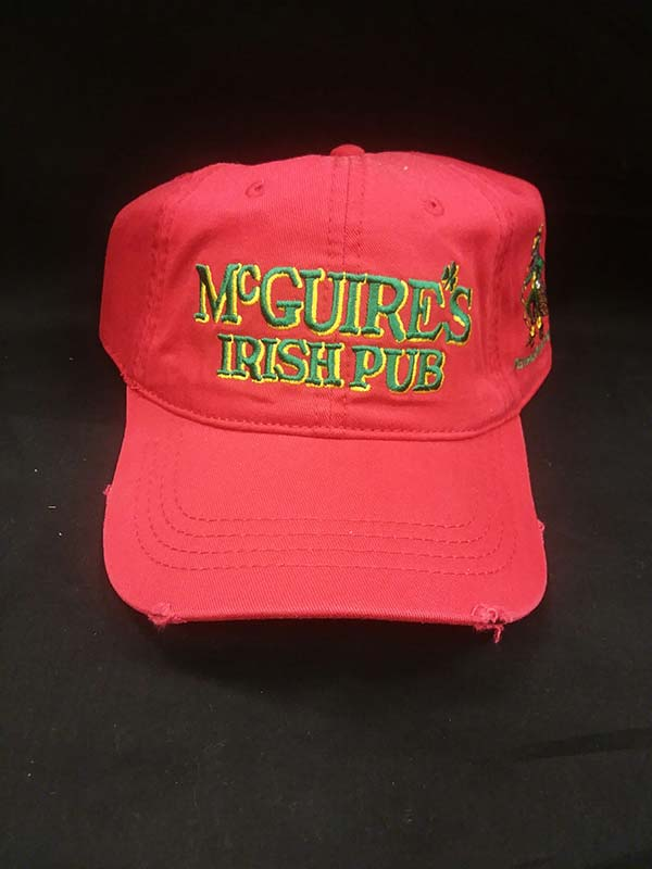McGuires Logo Frayed Cap - Red