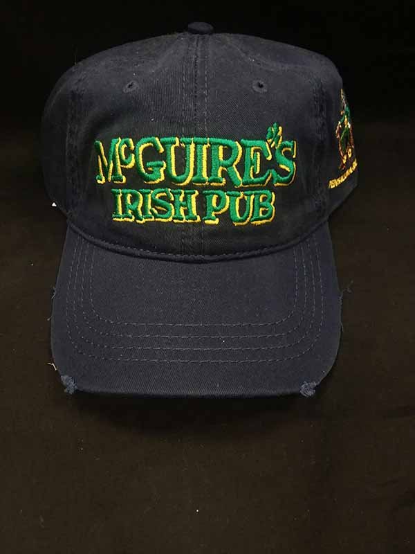 Frayed Cap with McGuires Logo - Navy