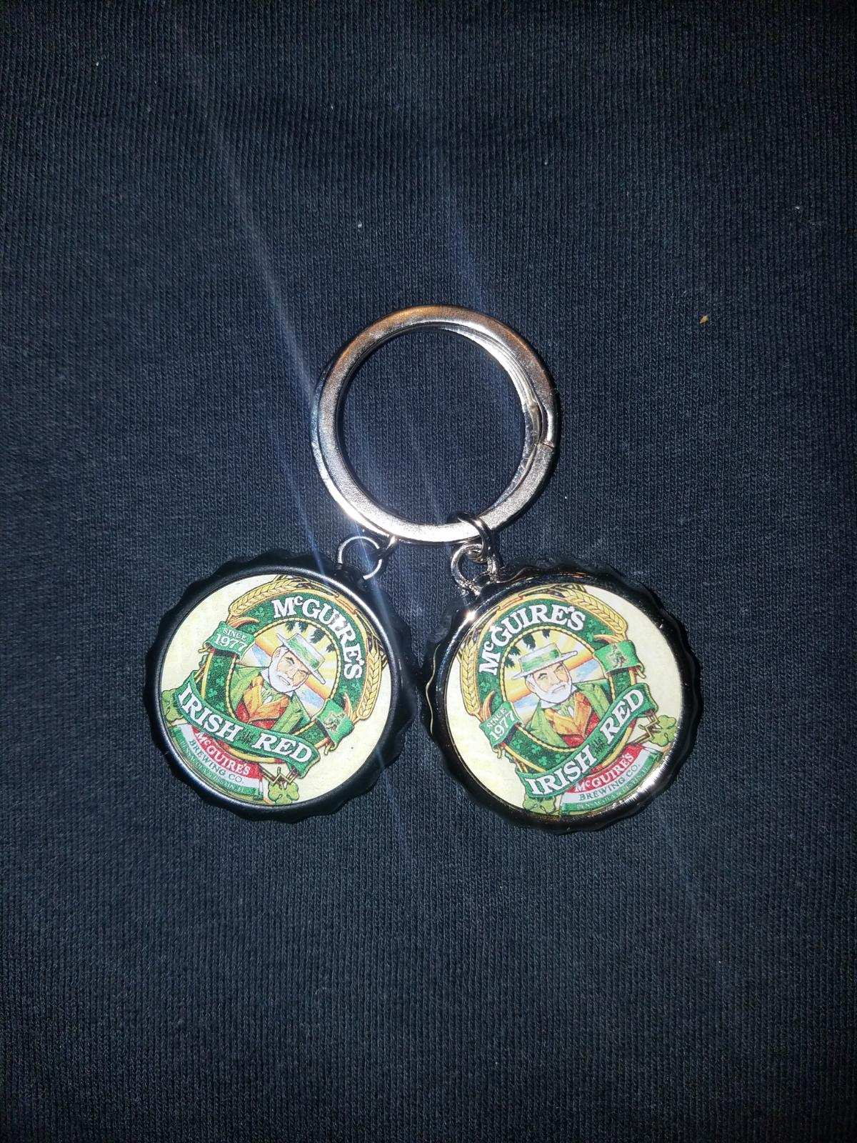 Irish Red Bottle Opener Keychain