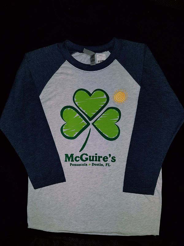 Shamrock and Sun Ladies Raglan