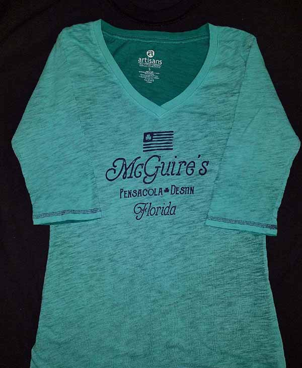 Ladies 3-Quarters-Sleeve Shamrock Flag