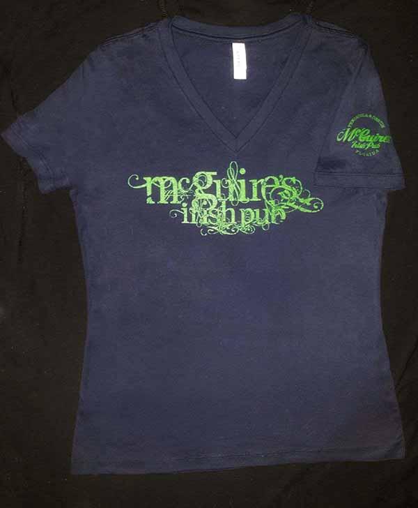 Script Navy Womens T-Shirt