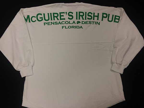 McGuires Puff Logo Long Sleeve - White