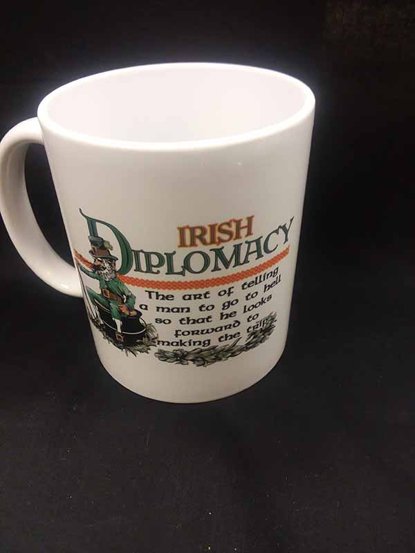Irish Diplomacy Coffee Cup