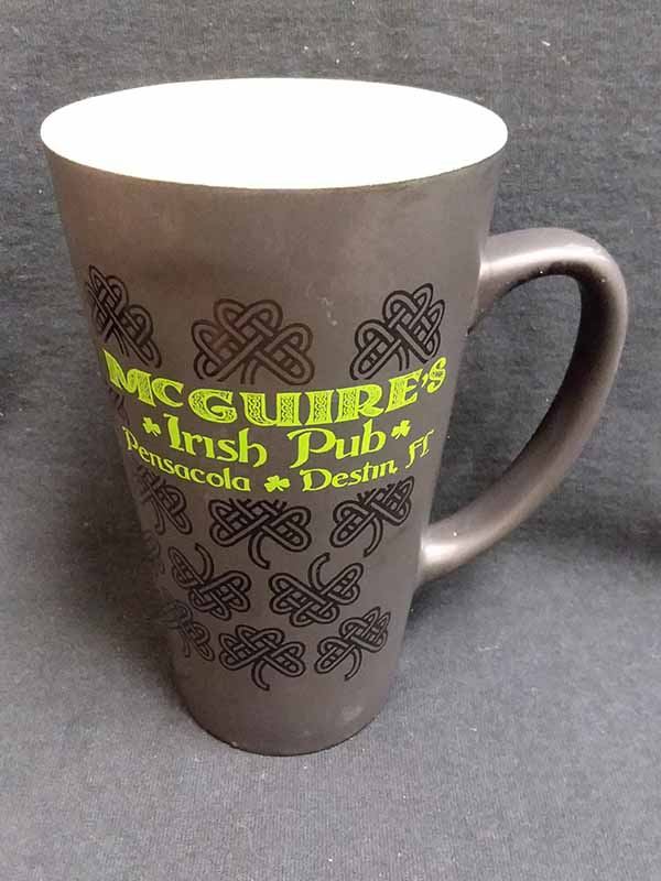 Black Matte Clovers 16oz Mug