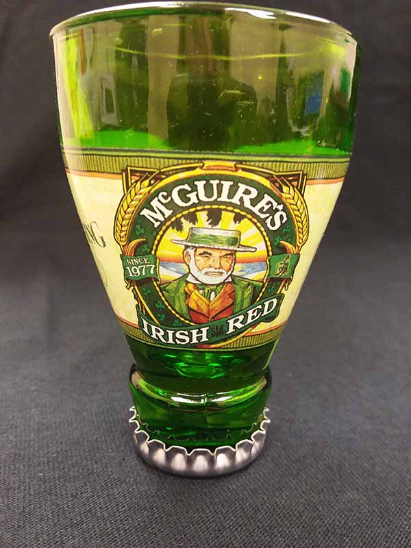 Mcguires Irish Red Bottle shot glass