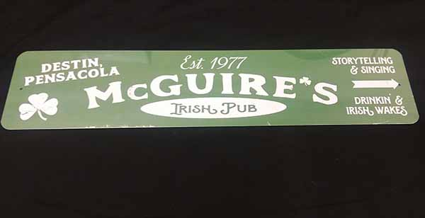 New McGuires Logo Metal Sign