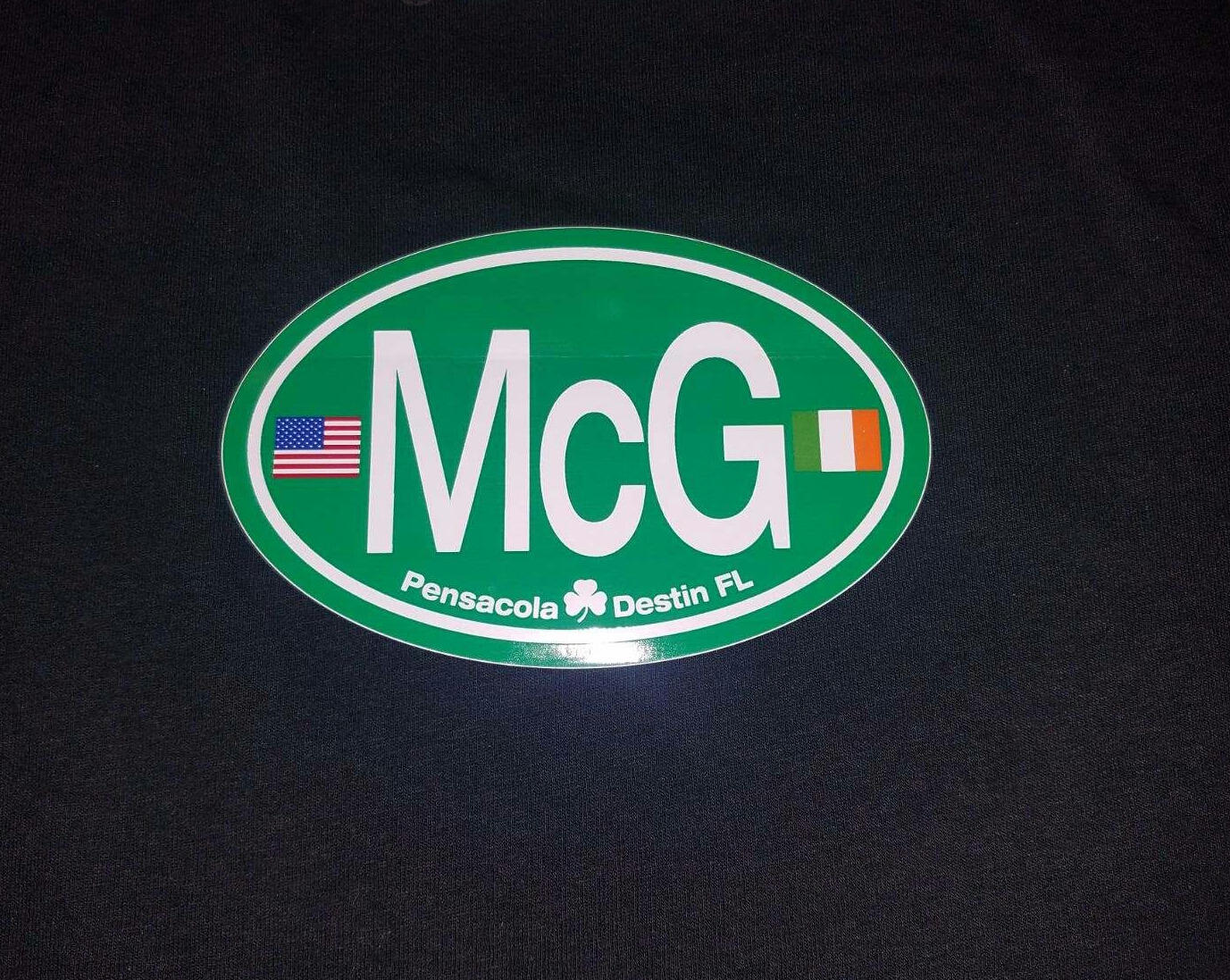 MCG Dual Flag Decal