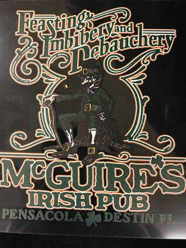 Mcguires logo Decal
