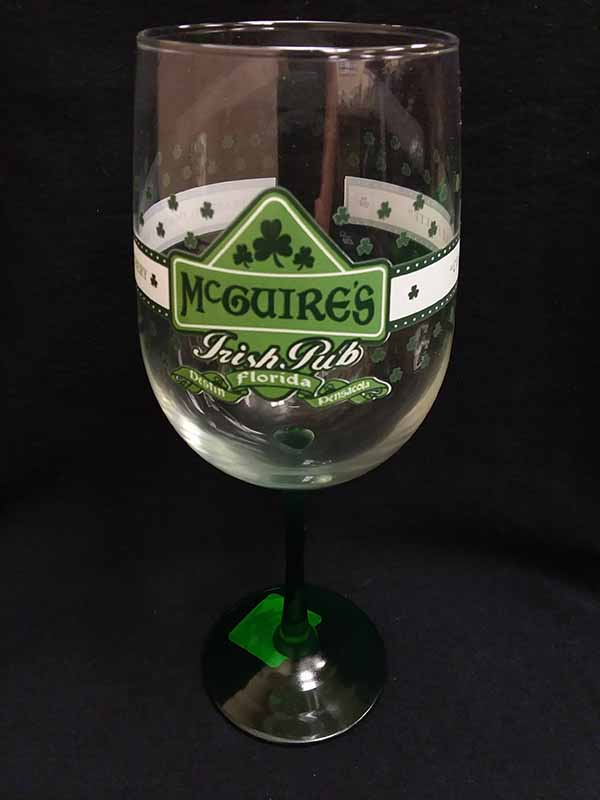 Green Stem Wine Glass