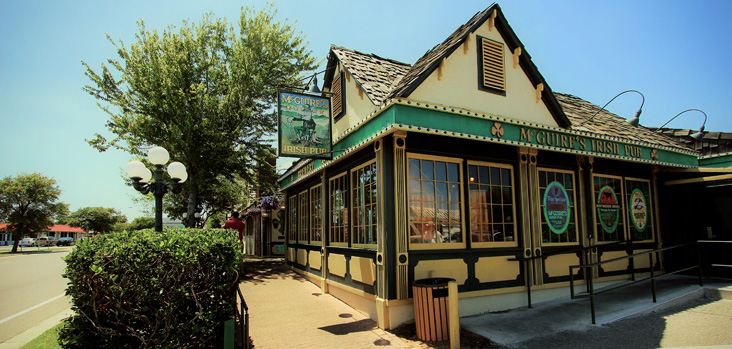 Outside view of McGuires Irish Pub