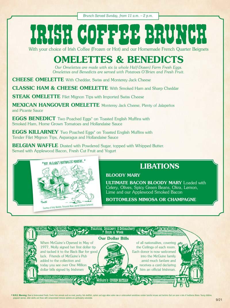 Brunch menu cover