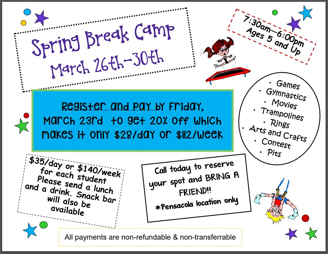 First City Gymnastics Spring Break Camp