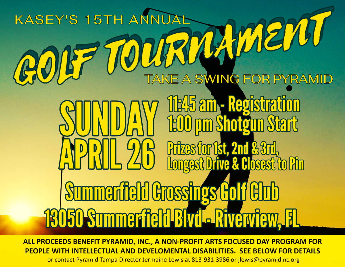 flyer with man playing golf