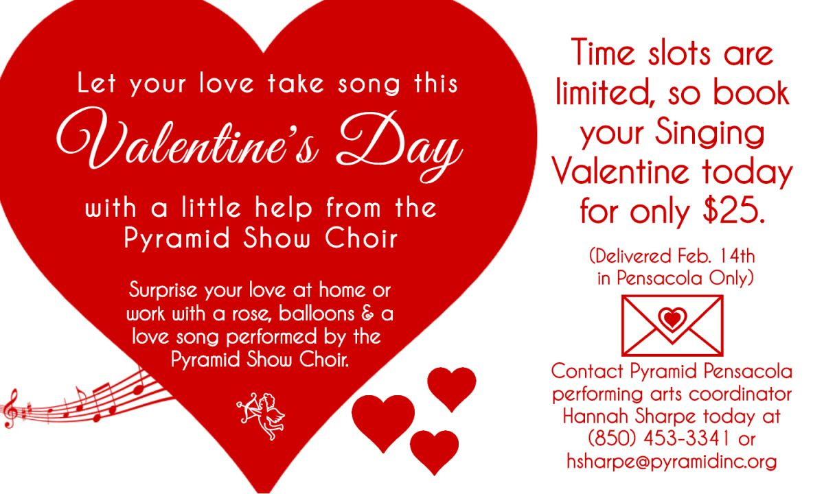 Pensacola Singing Valentine Flyer