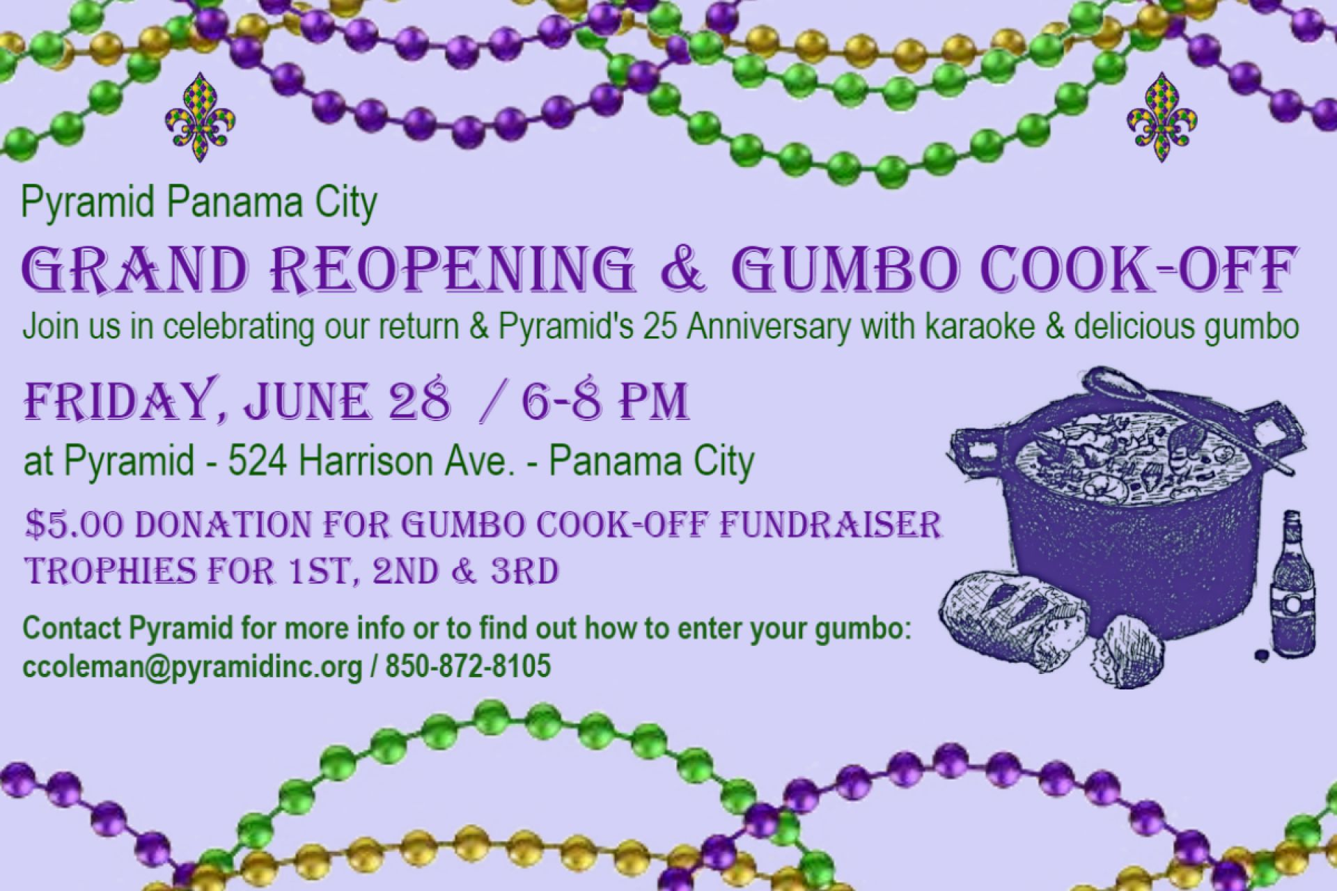 Pyramid Gumbo CookOff Flyer