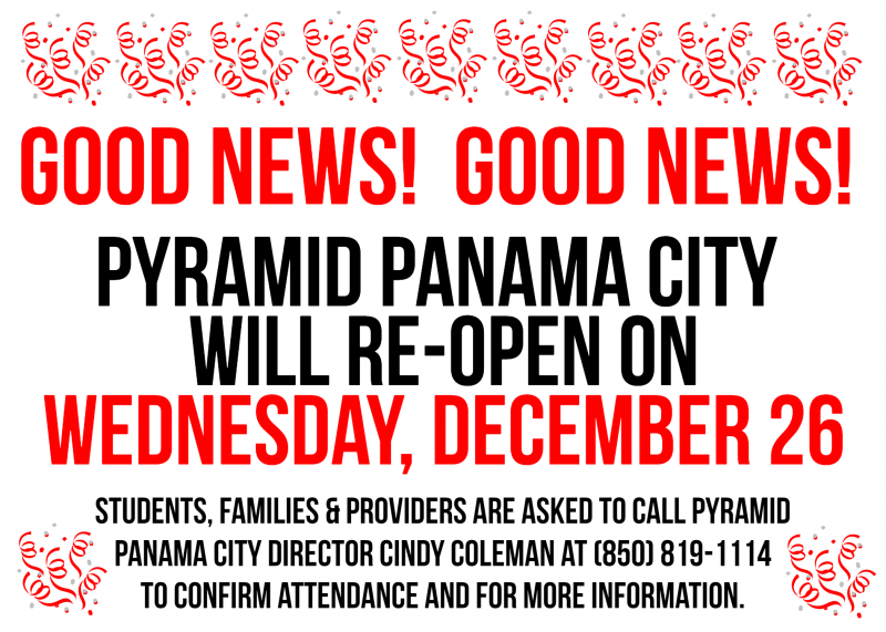 Panama City Reopening Flyer