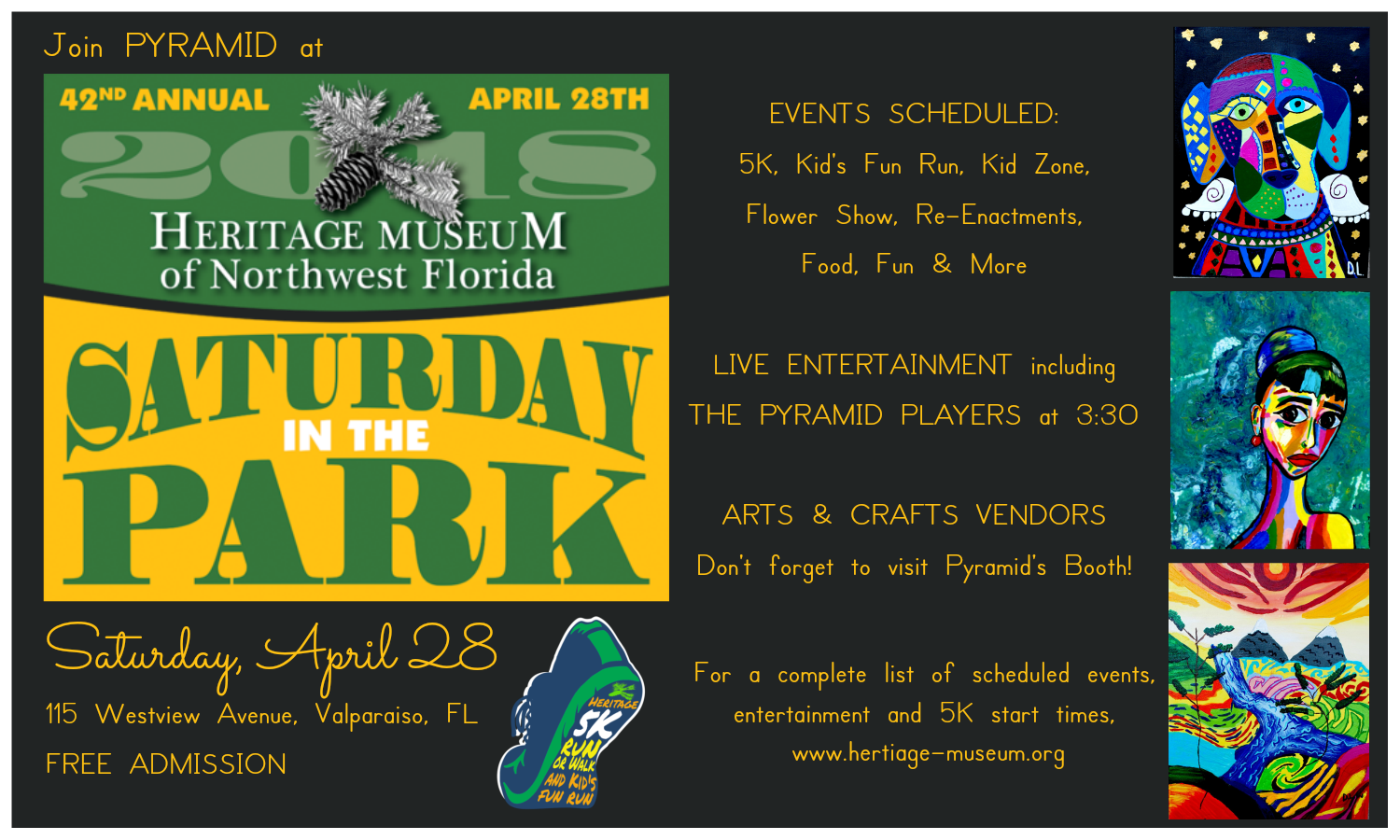 Saturday in the Park event flyer