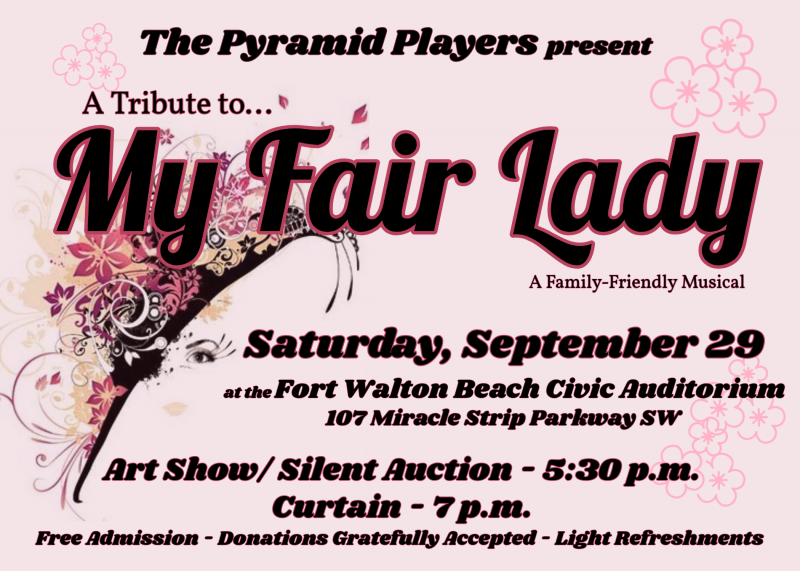 Image of an event flyer for My Fair Lady