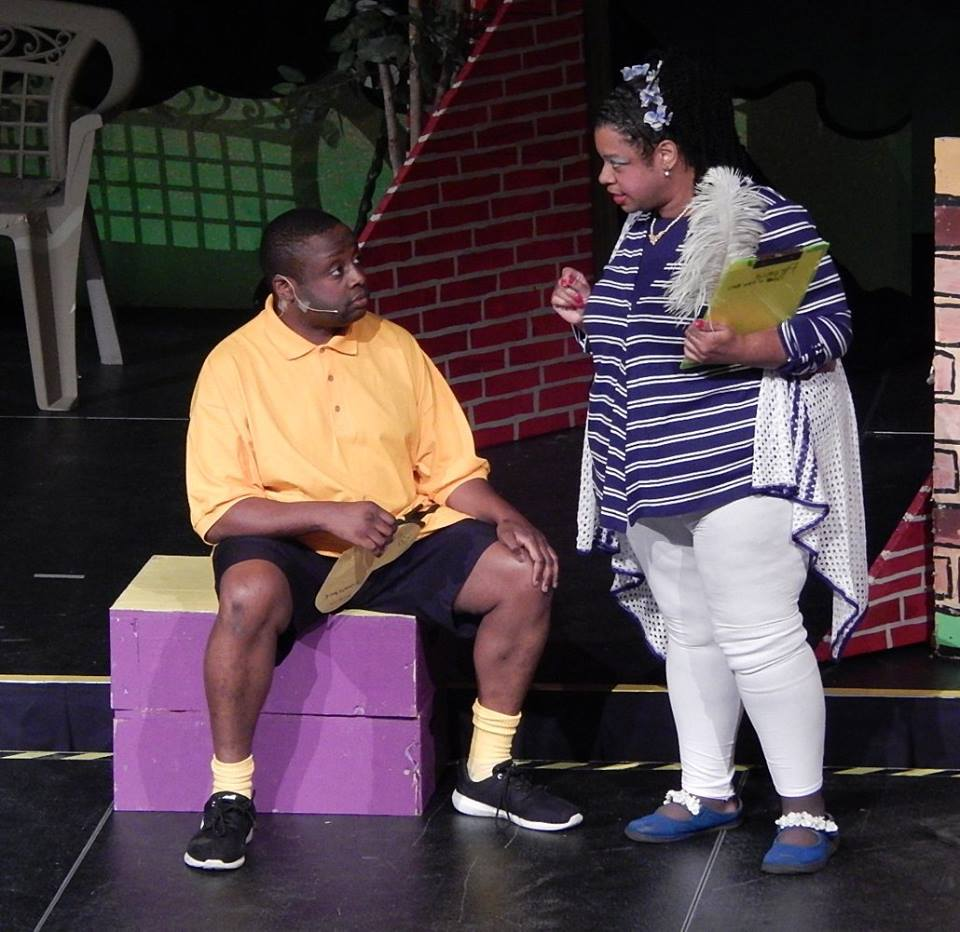 Cast of Charlie Brown performing on Stage