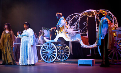 Cinderella and her horse and carriage