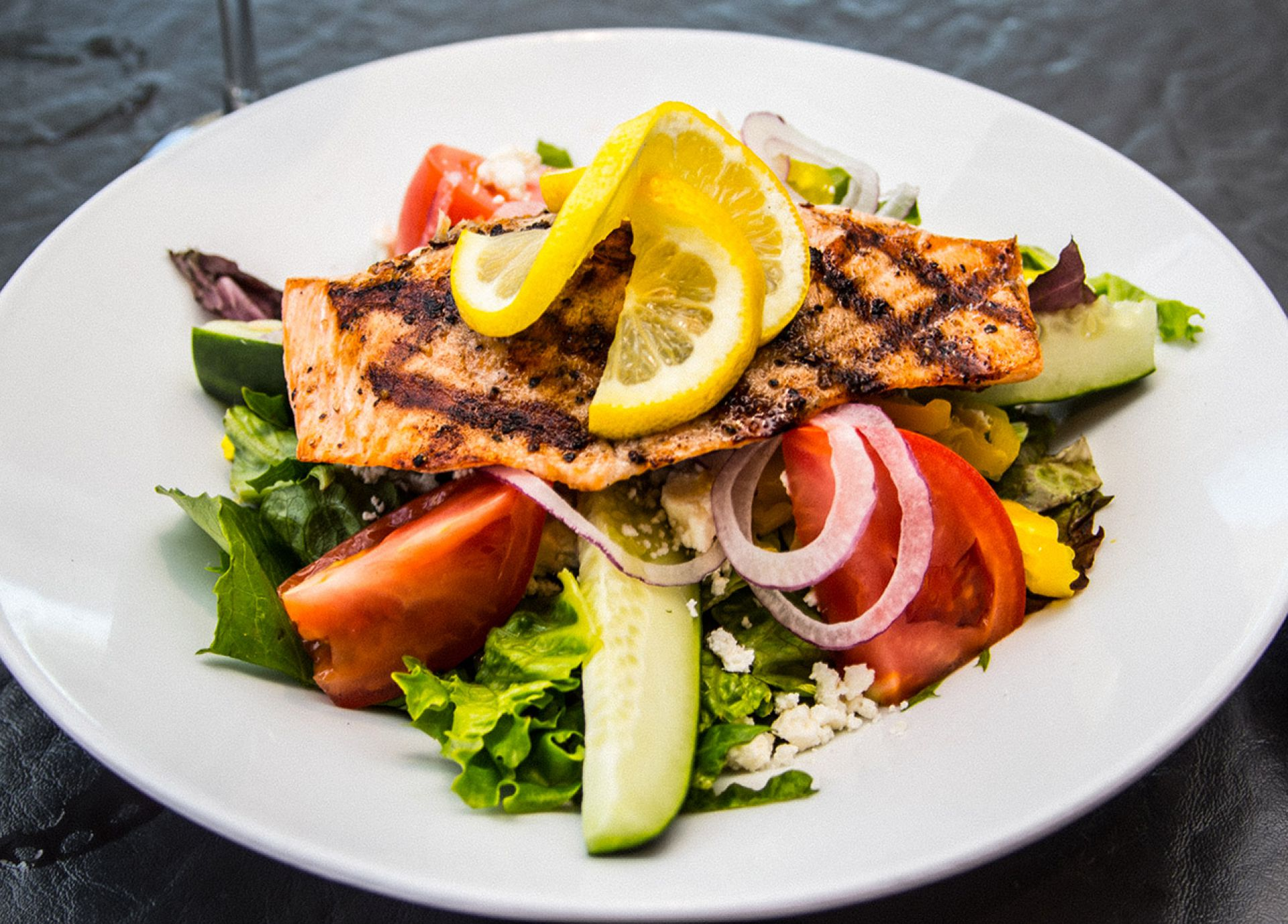 Fresh Grilled Salmon Salad