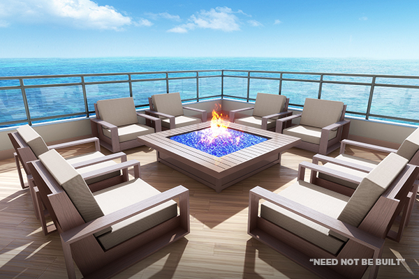 Positano rooftop firepit - Need not be built