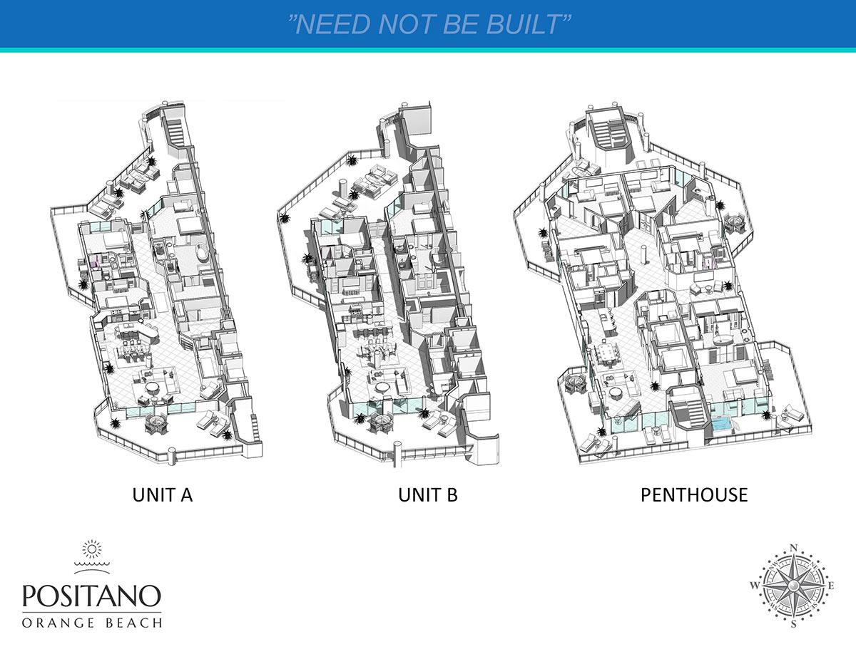 Positano Condominium Interior view ISO