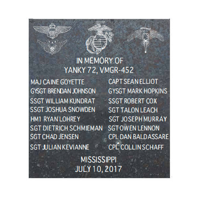 Marine Aviation Tower 8 x 8 Plaque